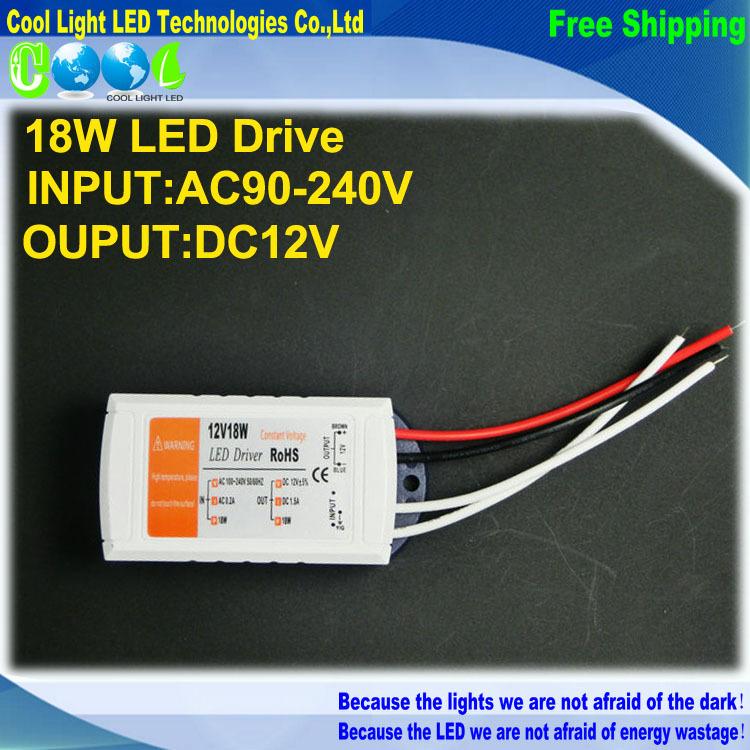 12V 1.5A 18W 100-240v Lighting Transformers high quality safy Driver for LED Strip RGB ceiling Light bulb Driver Power Supply(China (Mainland))
