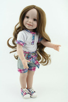 """Hot Sale 18"""" American Girl Doll Handmade Vinyl Doll Gift Baby Doll Hobbies Wear Casual Outfit Lifelike Baby Doll"""