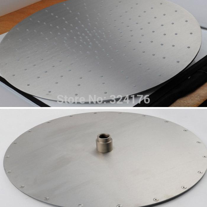 International 5 star hotel use 20 inches brushed round shape outdoor spa rain shower mixer(China (Mainland))