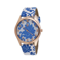 2014 New Fashion Casual Promotion Cheap Quartz Flower leather Strap watches women dress watch Wristwatch