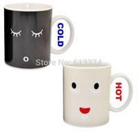 Free shipping 1Piece Porcelain Color Changing Mug Ceramic Morning Mug / work cup