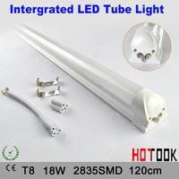 T8 18W 120cm Intergrated LED Tube Light Milky white cover Cheap price t8 G13 2835 18W 1200mm 120CM Tubo LED 85V~265V x 10p[cs