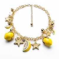 fashion necklaces for women 2014 hot sellingYellow stars mango necklace summertime joker  Summer girl love best