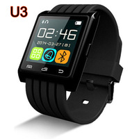 Bluetooth Wrist Smart Phone U3 Watch For iOS Android for Samsung for iPhone for HTC BLACK