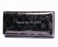 FREE SHIPPING,new arraival 100% Genuine Leather Wallets,Paris Brand Women Wallets Zipper card cash large capacity Women Purses07
