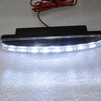 Universal Pair Car Auto Fog Daytime Running Light DRL Front Head Lamp 2x 8LED