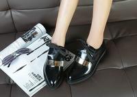 Women's Oxfordss shoes   Rivets genuine leather shoes