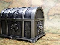 Tin vintage jewelry box Chest Decor Metal Alloy storage box royal Girl gift 10.5 x 7.5 x 7.5 cm