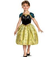 Frozen Anna Dress NEW Arrival Children Dress Princess Anna vestidos de menina Baby Girls Dress