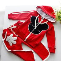 NEW 2014 Boys Clothes Set Hoodies Sweater Suit roupas de bebe Mickey Children Clothing Sets