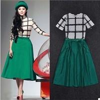 Fashion Dress NEW 2014 Europe and United States Summer Fashion Women Dresses Cotton Rayon Splicing dress Lindy Free shipping