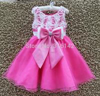 retail hot selling Girl Party Dress Floral Children Wedding Dress Baby girl flower princess dress, Free Shipping G-711