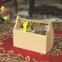 free shipping!6pcs Tools Set  1/12 Dollhouse Miniature pliers  hammer  tapewith box mini  Toys Dolls Accessories