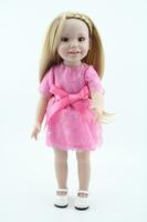 2014 New Style BJD Doll Toys Reborn Vinyl Baby Doll Long Brown Gold Hair Lifelike Princess Doll Baby Gift