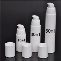 BS capacity 50ml white airless vacuum pump lotion bottle with white lid can used for Cosmetic Container