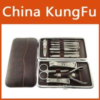 Stone Pattern Case 1 set 12pcs Nail Clipper Kit Nail Care Set Pedicure Scissor Tweezer Knife Ear pick Utility Manicure Set Tools