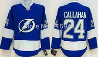 New Hockey Jerseys 2015 Lightning #24 Callahan Jersey Blue Color Size 48-56 Stitched Mix Match Order