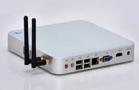 Strongest specs fanless celeron 1037u mini pc 12v supports wifi full HD 1080P ubuntu, openelec, xbmc, etc. 2GB RAM 32GB SSD