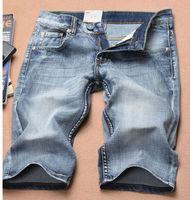 2014 Brand New Blue Color Men Straight Jeans Short B008