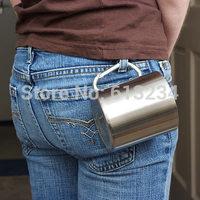 Free Shipping 1Piece Stainless Steel Carabiner Mug -220ml