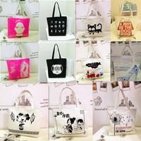 MeetU Bags women's handbag fashion handbag canvas bag female one shoulder student school bag shopping bag 9 kinds to choose,hot!