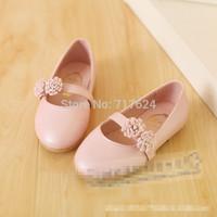 2014 autumn new children girls big virgin disk flowers Korean princess shoes than you love shoes wholesale