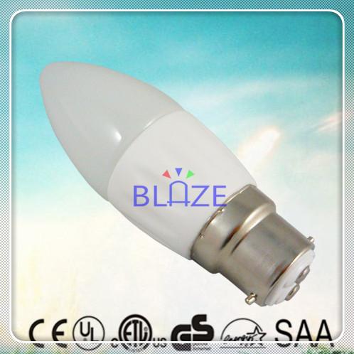 SAA 50pcs/Lot Driverless 230V Dimmable AC COB led Candle B22 4W Ra>80 Warm Cold White candela lamp Ra>80(China (Mainland))