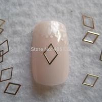 MS-295-2 Free Shipping Metal Gold 4*6MM Diamond Nail Art Metal Sticker Nail Art Decoration Fancy Outlooking