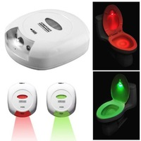 Free Shipping LED Sensor Motion Activated Toilet Light Bathroom Flush Toilet Lamp Battery-Operated Night Light