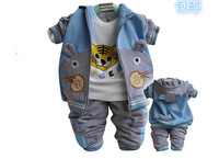 The new 2014 boys spring children aged 0-1-2-3 three suits the baby in the spring and autumn clothes