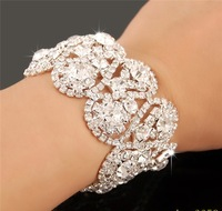 Fashion Bridal Jewelry Romantic Wedding party Accessories Bridal Bracelet Wrist Band Jb071