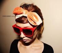 Promotion cheap 2015 high end fashion velvet bow headband turban