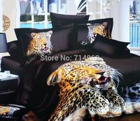 New Beautiful 4PC 100% Cotton Comforter Duvet Doona Cover Sets FULL / QUEEN / KING SIZE bedding set 4pcs animal black leopard