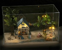 DIY LED LIGHT transparent box Dollhouse Central Travels Aegean romantic honeymoon