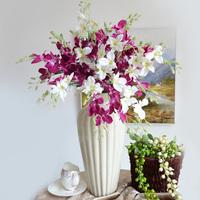 5pcs/lot Simple Dream Small Cattleya Yogon Cloth Orchid 3 Colors 67cm Long Artificial Flowers Wedding Home Decorative Flower