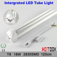 T8 18W 120cm Intergrated LED Tube Light Transparent cover  Cheap price t8 G13 2835 18W 1200mm 120CM Tubo LED 85V~265V x 10p[cs