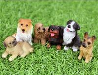 1/12 Scale Dollhouse Miniature Furniture !  PET Cool Puppy Dog Model Cute  Animal 6pcs pug saaloos retriever~ Free Shipping