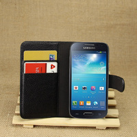 wholesale dustproof flip wallet Leather Case For Samsung  galaxy S4 mini i9190 free shipping