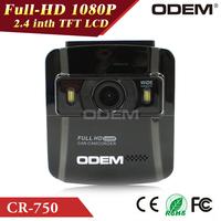 "ODEM 2.4"" LTPS 148 degree lens Car DVR WDR Driving Recorder Vehicle Camera 1080P HD G-sensor Supt Cycle Video HDMI TF Card Slot"