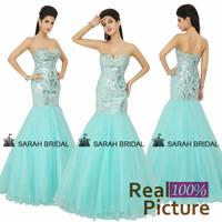 XU006 Tulle Silver Sequin long evening dresses women 2014 Sweetheart Mermaid Party Dress Luxury Long Evening Dresses 2014