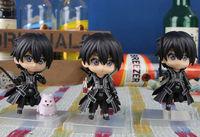 Free shipping 3pcs/lot Hot Anime Sword Art Online Q version Kirito figure SAO PVC figure cute doll model for collection