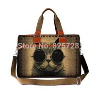 Women travel bag totes 2014 men duffle bags canvas large capcity cool cat print handbag luggage shoulder cross-body bags