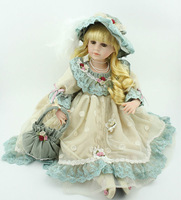 New 22 Inch Vinyl Dolls European Style Toys Vintage Baby Doll Gift Victorian Baby Dolls Free Shipping
