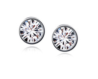 Ninabox High Quality  Stud Earrings Made with Austrian Crystal Free Shipping Gift Box Women Classic Jewelry