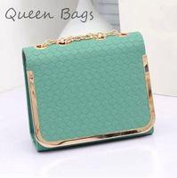 Hot selling  2015 women candy color PU leather Shoulser Bag Famous brand casual Handbag Vintage chain messenger Bag S4643