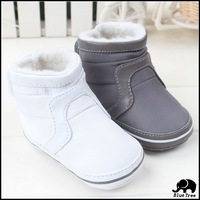 Retail 2014  New Bbay Shoes Infant Shoes Winter Warm Snow Boots For Baby Girls And Boys Casual Pu Boots 2 Color Free Shipping