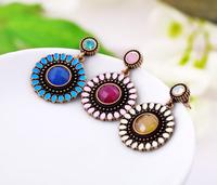 Min $10 - Pendientes Jewelry Vintage Sunflower Drop earrings Fashion New 2014 Brincos For Women