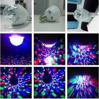 20pcs 2014 new 3W E27 Led Crystal Magic Color Rotating Ball Light LED Fantasy KTV Club Bulb With Higher Quality