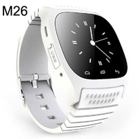 White Luxury R-Watch Bluetooth M26 Smart LED Watch with Dial / Call Answer / Anti-lost / Passometer / Thermometer