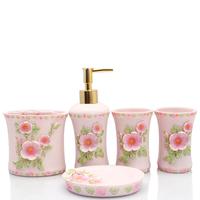 Guanchong five pieces set resin bathroom set bathroom toiletries kit wedding gifts bathroom